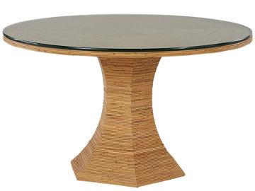 "Picture of NANTUCKET 54"" ROUND GLASS TABLE"
