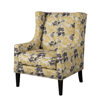 Picture of BARTON WING CHAIR IN YELLOW
