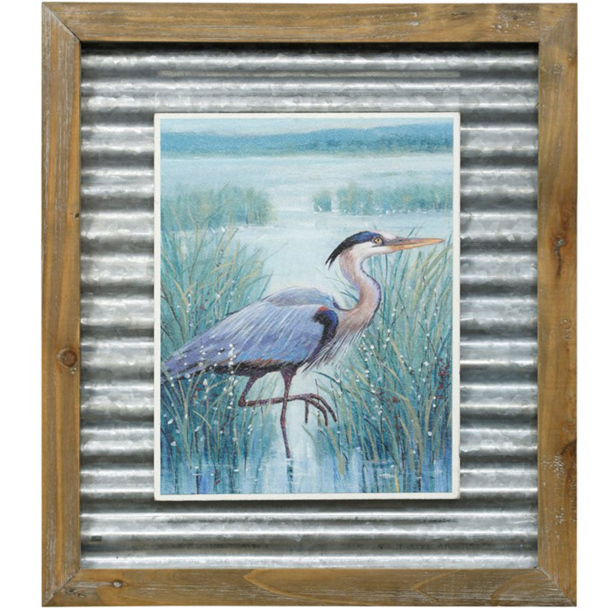Picture of WETLAND HERON TEXT PRINT I