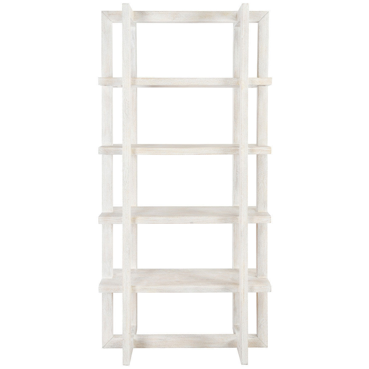 """Picture of SYDNEY 96"""" WHITE BOOKCASE"""