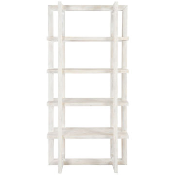 "Picture of SYDNEY 96"" WHITE BOOKCASE"