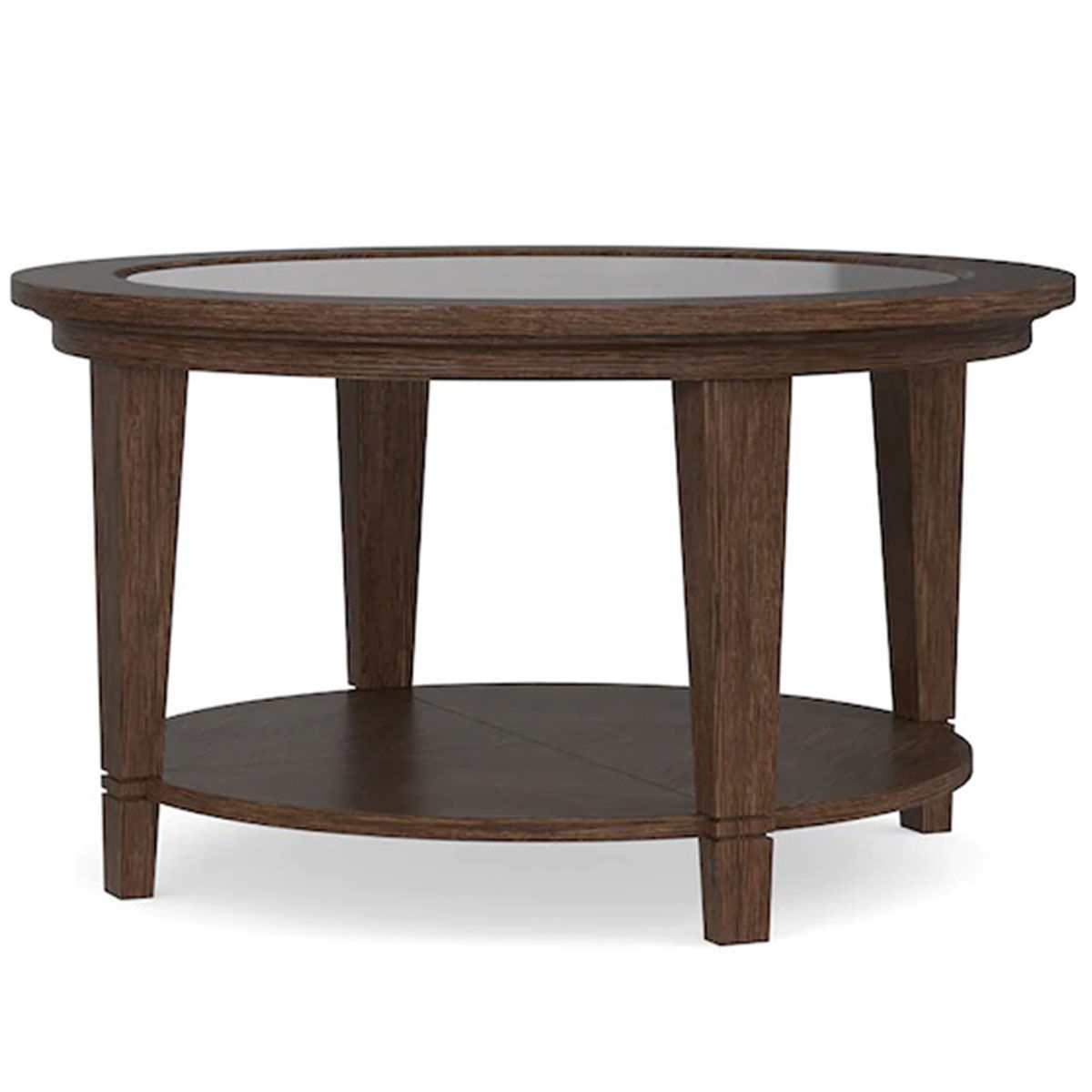 Picture of LEWISTON ROUND COFFEE TABLE W/GLASS