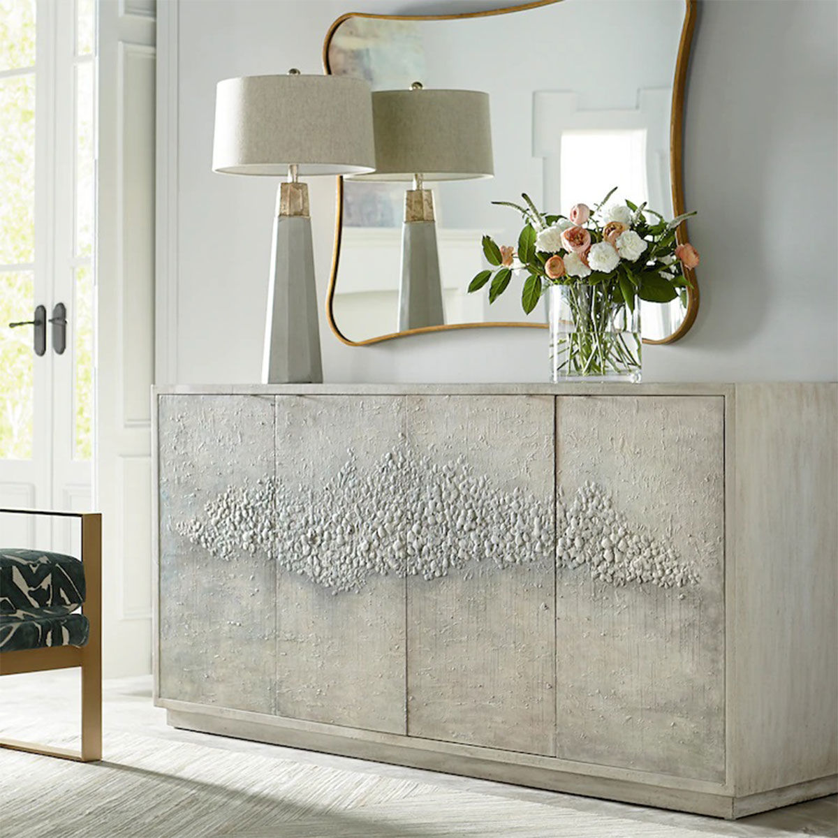 "Picture of MEADOW 72"" 4 DR CREDENZA"