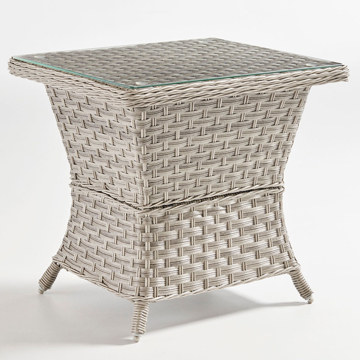 Picture of MAYFAIR PDQ END TABLE W/GLASS