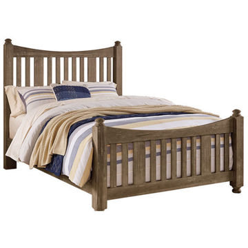 Picture of A&P MAPLE RD POSTER BED IN WEATHERED GRAY