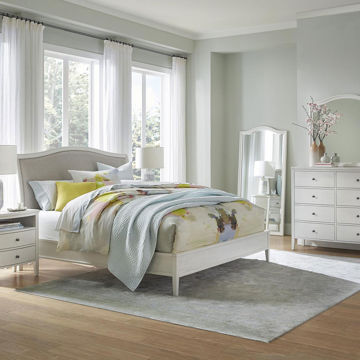 Picture of CHARLOTTE UPHOLSTERED WHITE BED