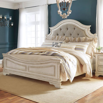 Picture of ROSLYN UPHOLSTERED PANEL BED
