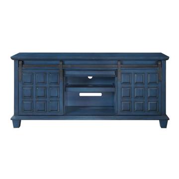 Picture of 1 DOOR 2 DRAWER MEDIA CREDENZA IN BLUE