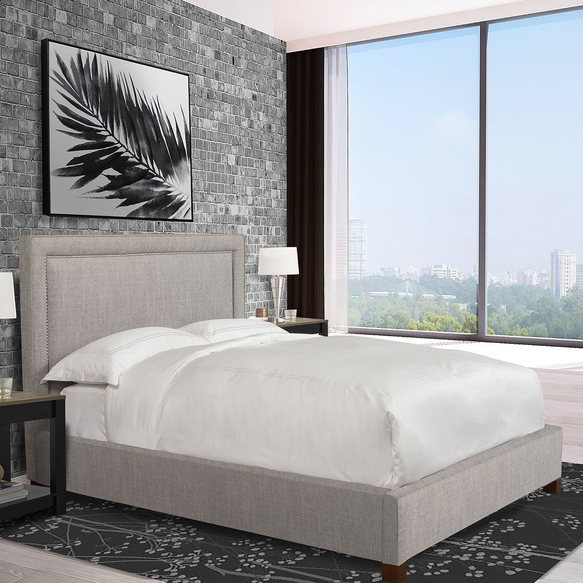 Picture of CODY CORK KING UPHOLSTERED BED