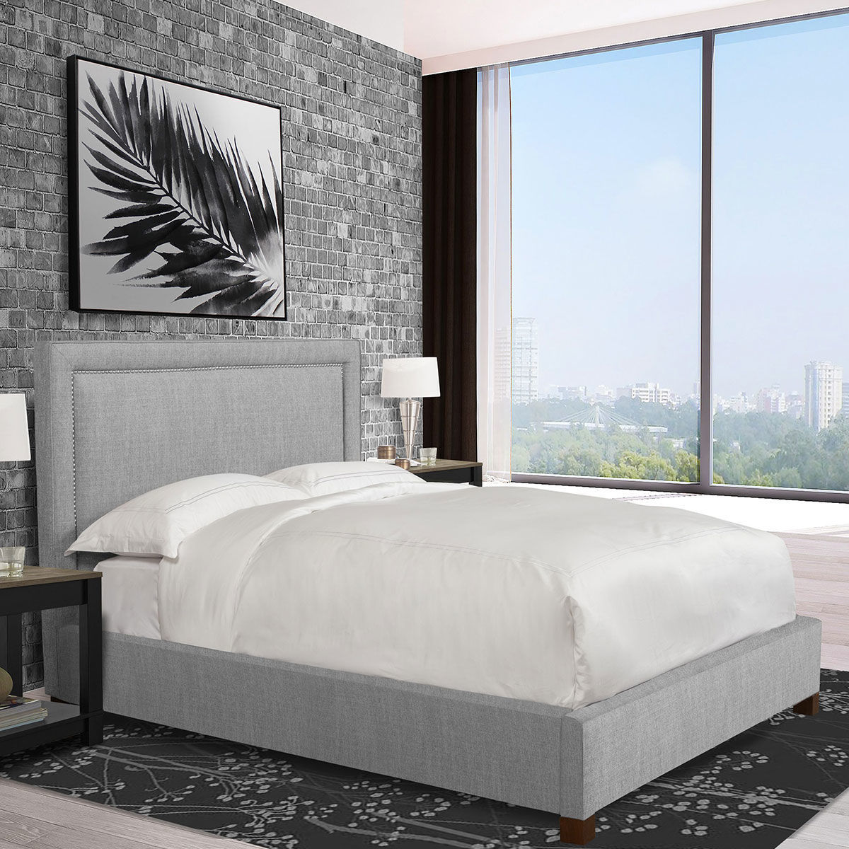 Picture of CODY KING UPHOLSTERED KING BED IN MINERAL