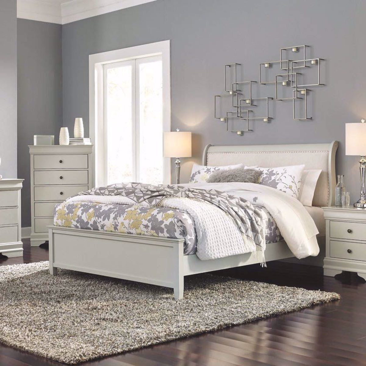 Picture of JORDANA UPHOLSTERED SLEIGH BED