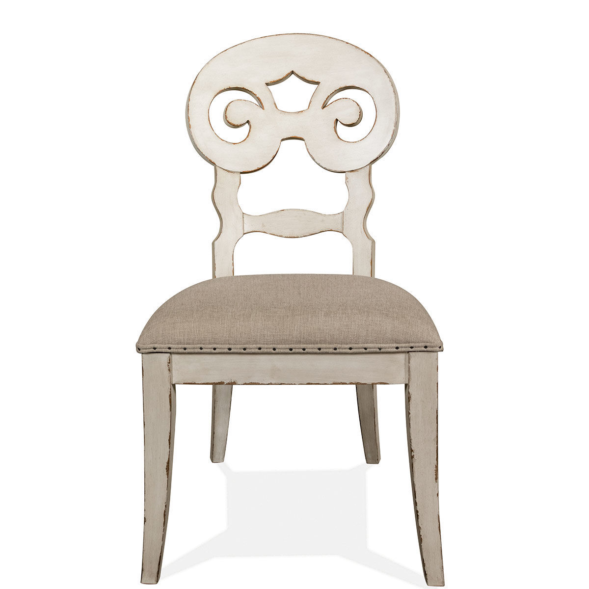 Picture of SCROLL BACK WHITE CHAIR