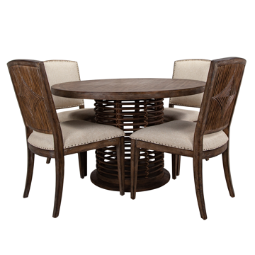 Picture of SUNDANCE RATTAN TABLE & 4 CHAIRS