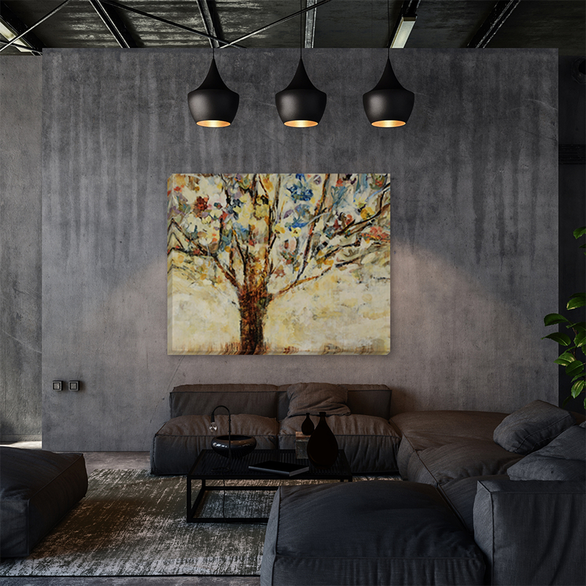 Picture of SHELTER TREE CANVAS ART