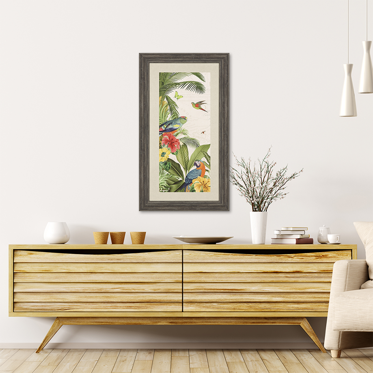 Picture of PARROT PARADISE VI TROPICAL WALL  ART