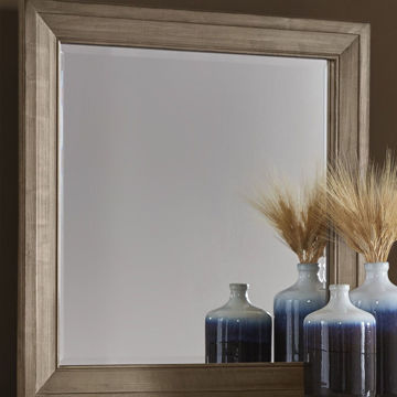 Picture of Artisan & Post Maple Road Landscape Mirror in Weathered Gray