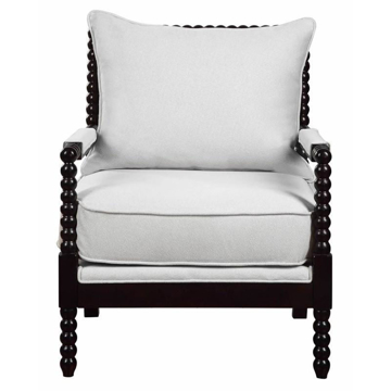 Picture of BLACK & WHITE ACCENT CHAIR