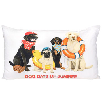 Picture of DOG DAYS OF SUMMER PILLOW