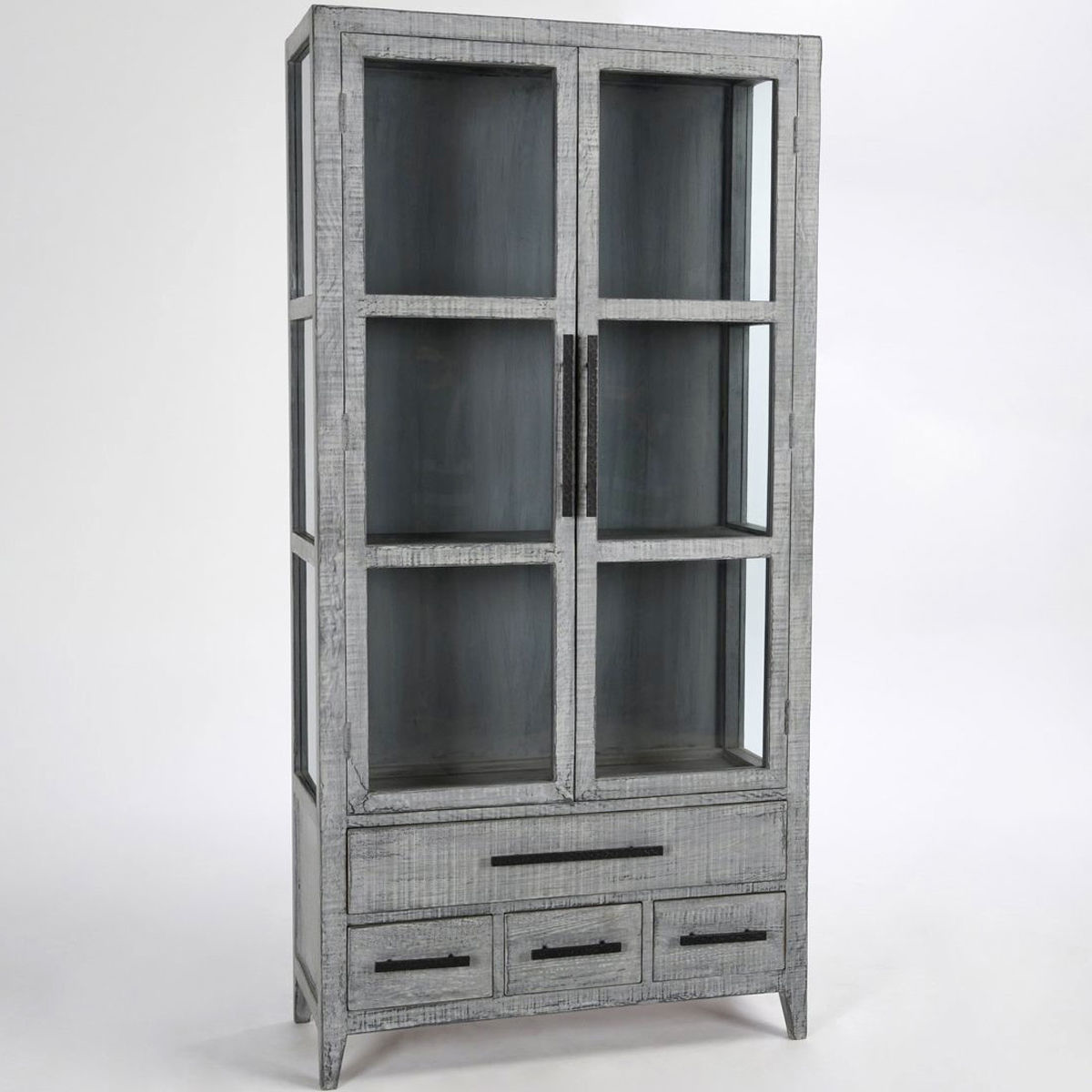 Picture of SIMON TALL CABINET ANTIQUE BLU