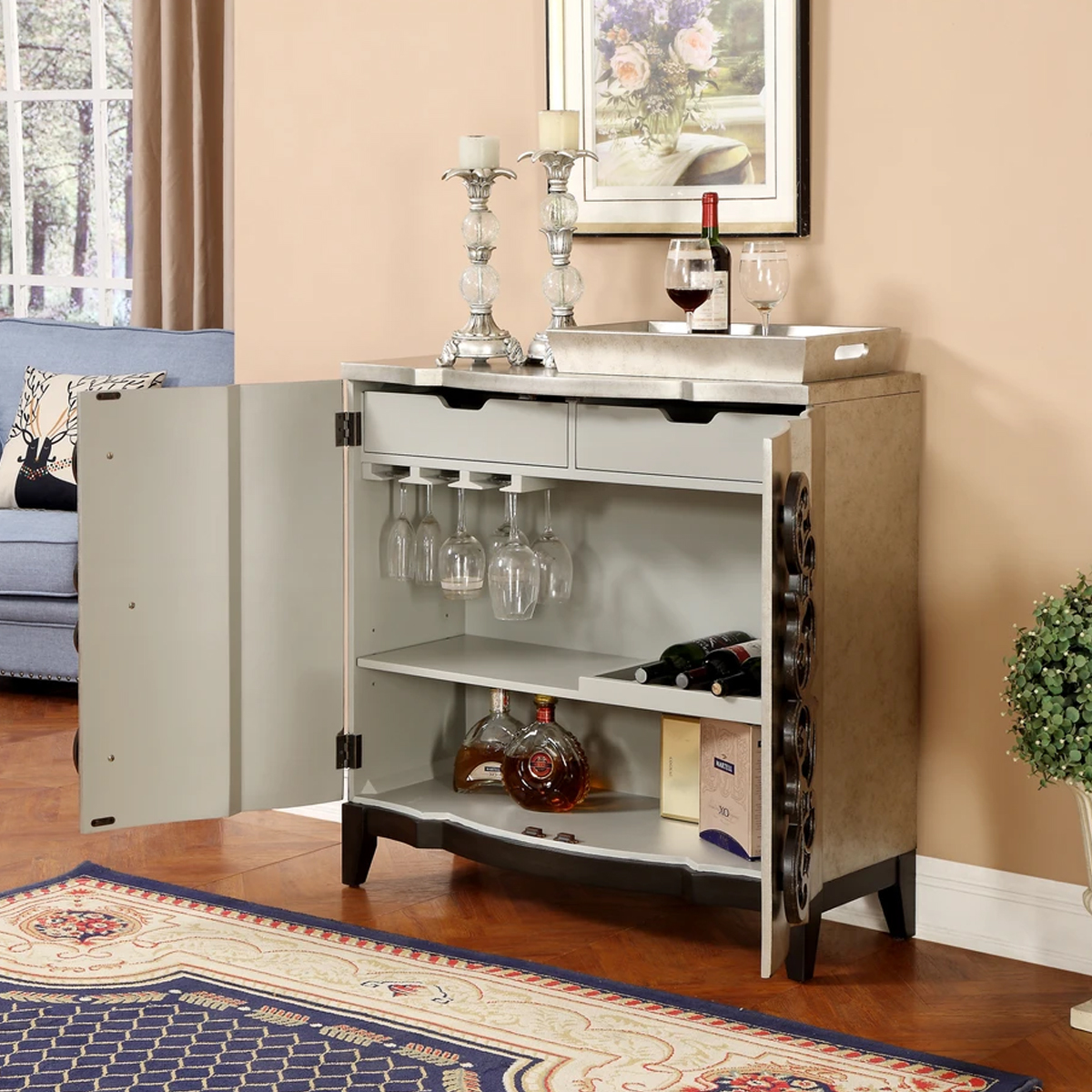 Picture of 2 DR BAR CABINET