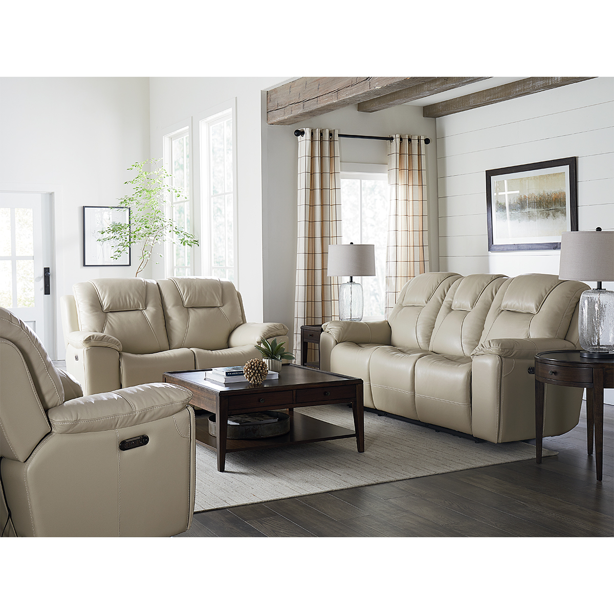 Picture of CHANDLER LINEN SOFA W/PHR