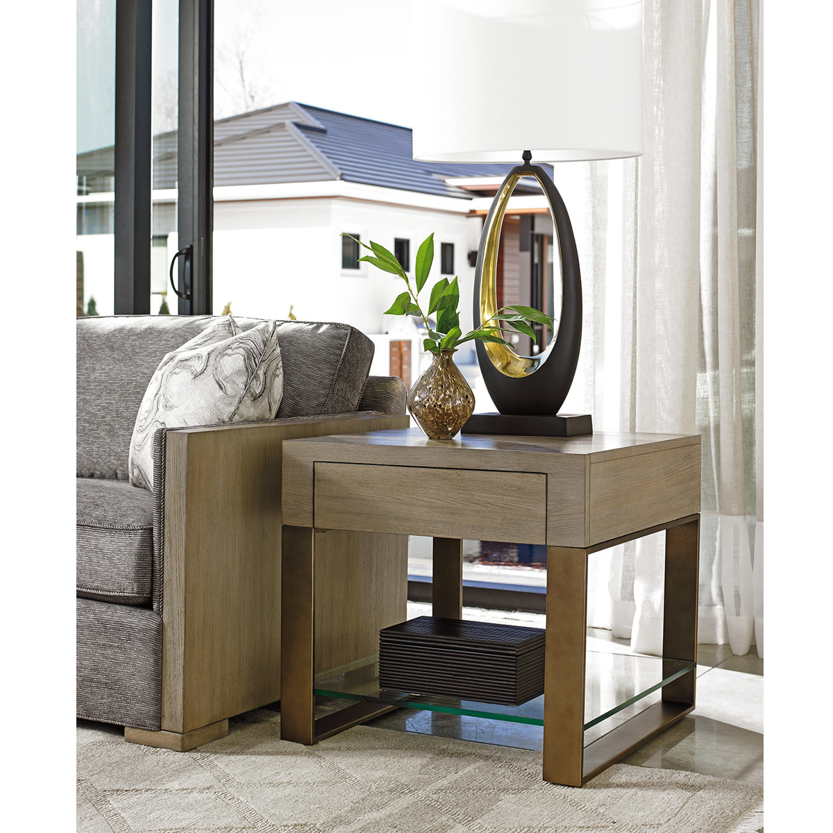 Picture of EMPIRE SQUARE END TABLE