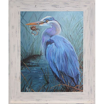 Picture of BLUE HERON W/ CRAB PRINT
