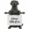 Picture of RESIN DOG WITH SIGN