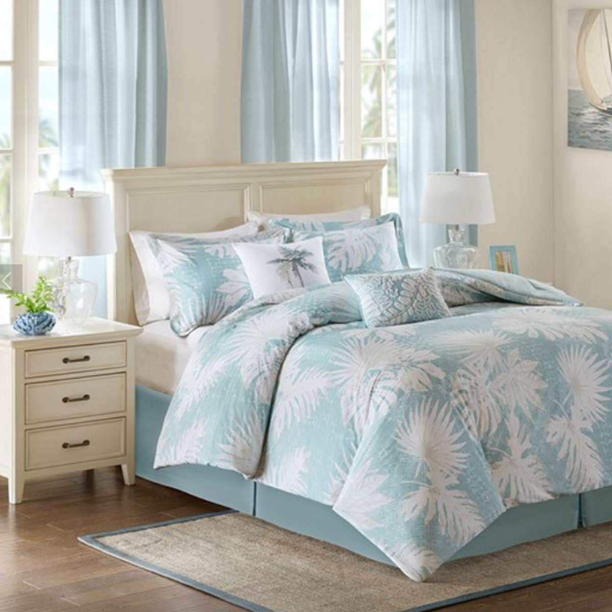 Picture of PALM GROVE 6 PIECE COMFORTER SET - KING