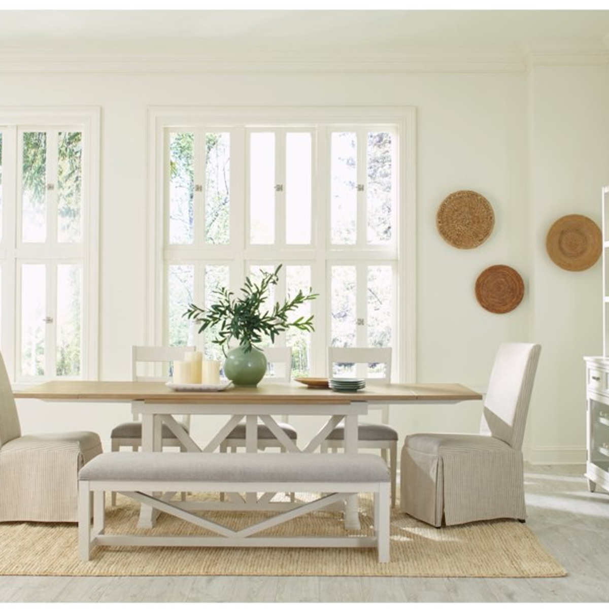 Picture of OSBORNE WHITE DINING BENCH