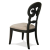 Picture of SCROLL BACK BLACK CHAIR