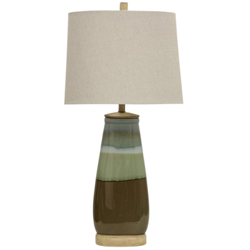 Picture of MILLVILLE TURQUOISE BROWN T-LAMP