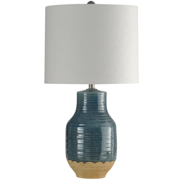 Picture of BLUE DIPPED CERAMIC TABLE LAMP
