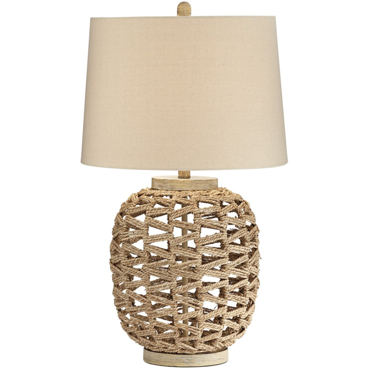 Picture of RATTAN ROPE TABLE LAMP