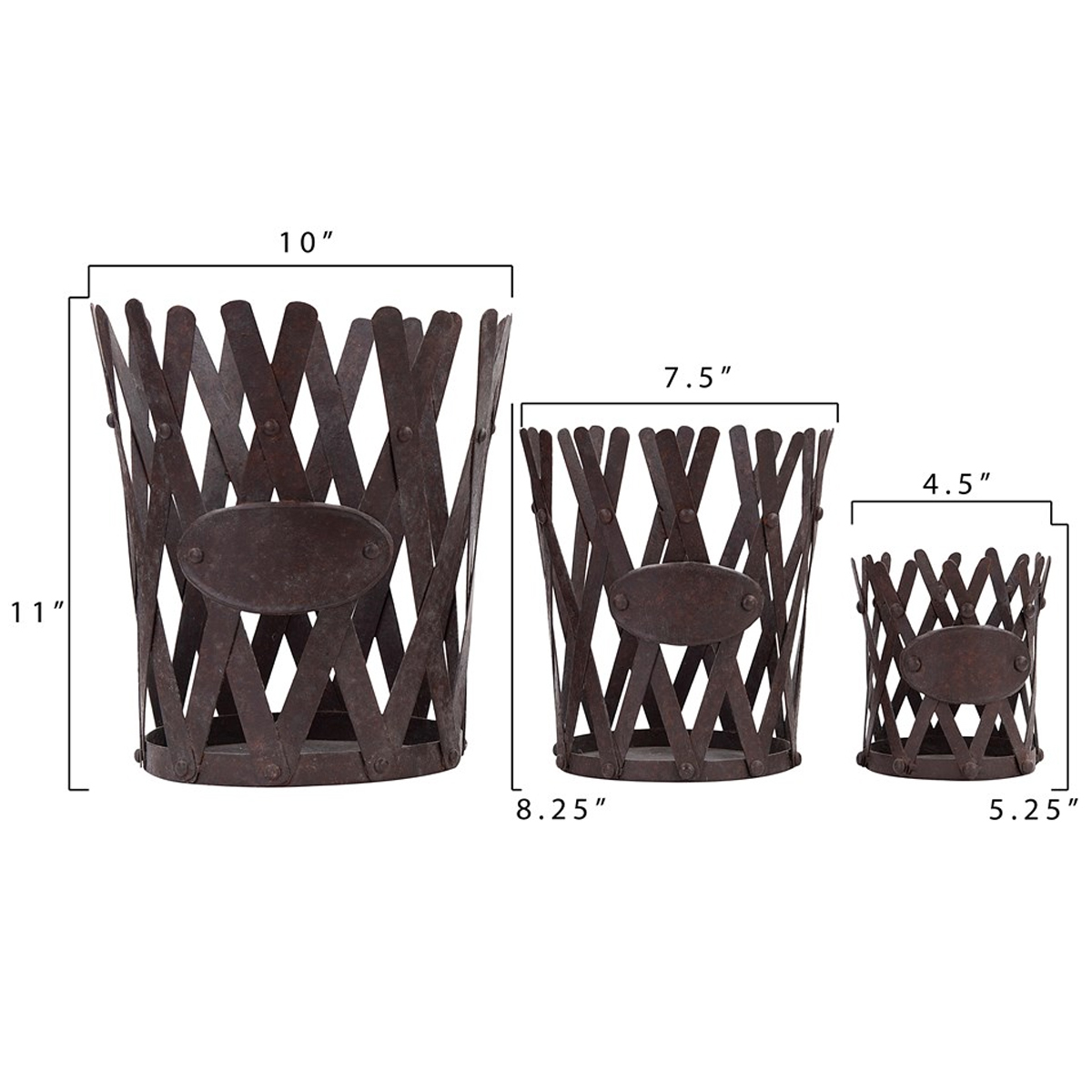 Picture of ROUND METAL PLANTERS (Set of 3)