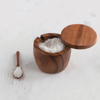 Picture of ACACIA WOOD COVRED JAR WITH SPOON (Set of 2)