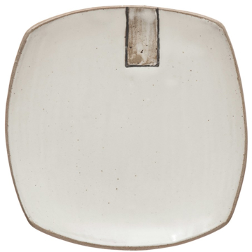 Picture of 6X6 STONEWARE PLATE IN WHITE