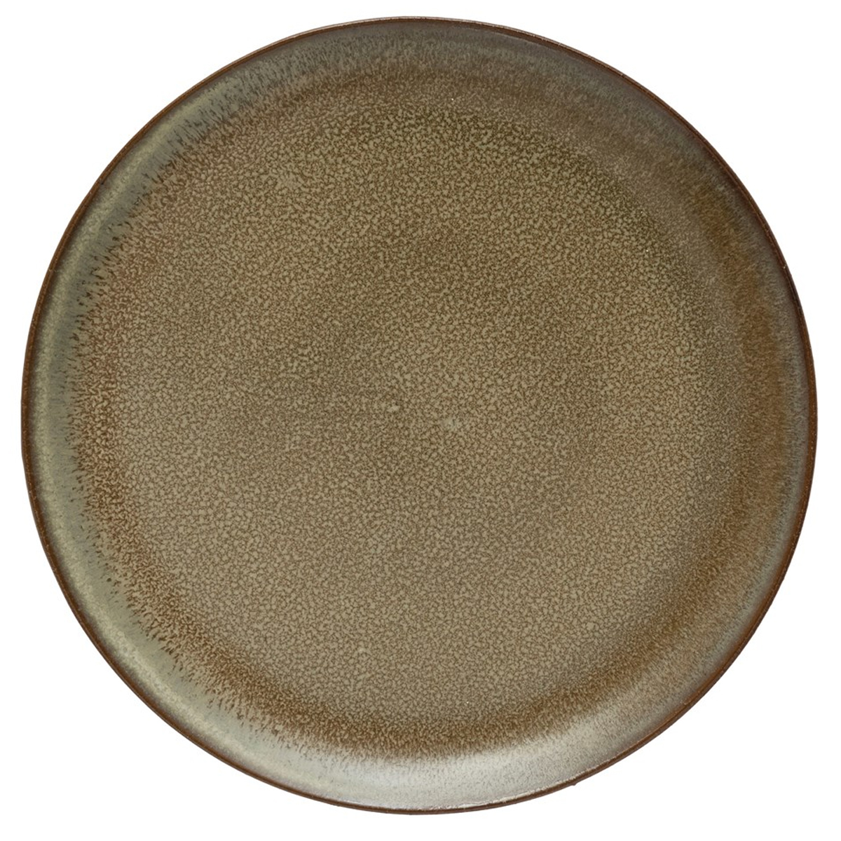 Picture of ROUND STONEWARE PLATE IN BROWN