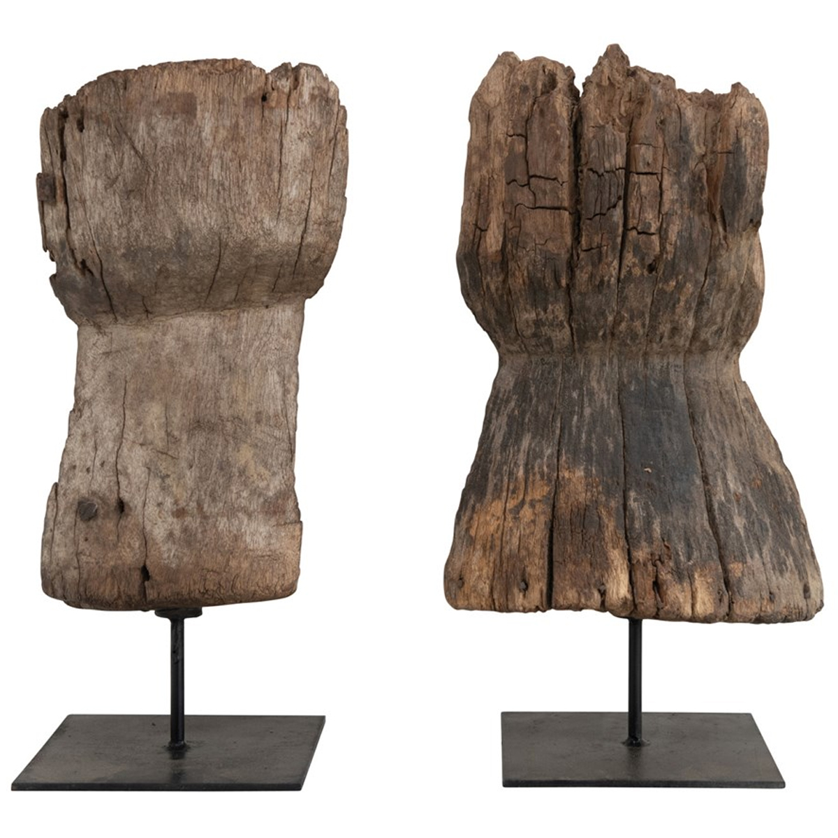 Picture of WOOD FRAGMENT ON METAL STAND