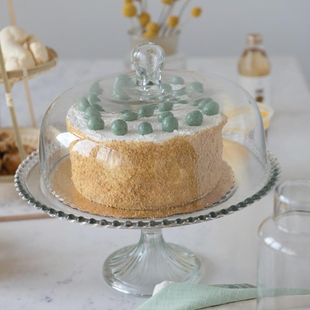 Picture of GLASS CAKE STAND & CLOCHE